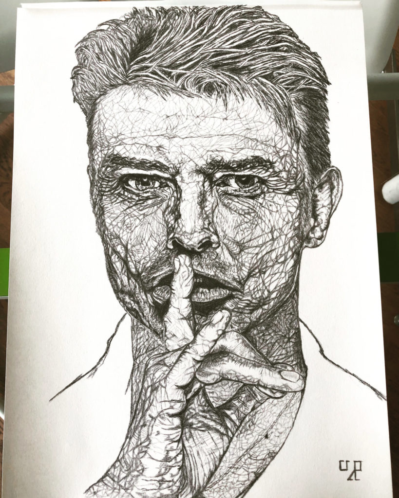 Drawing of David Bowie
